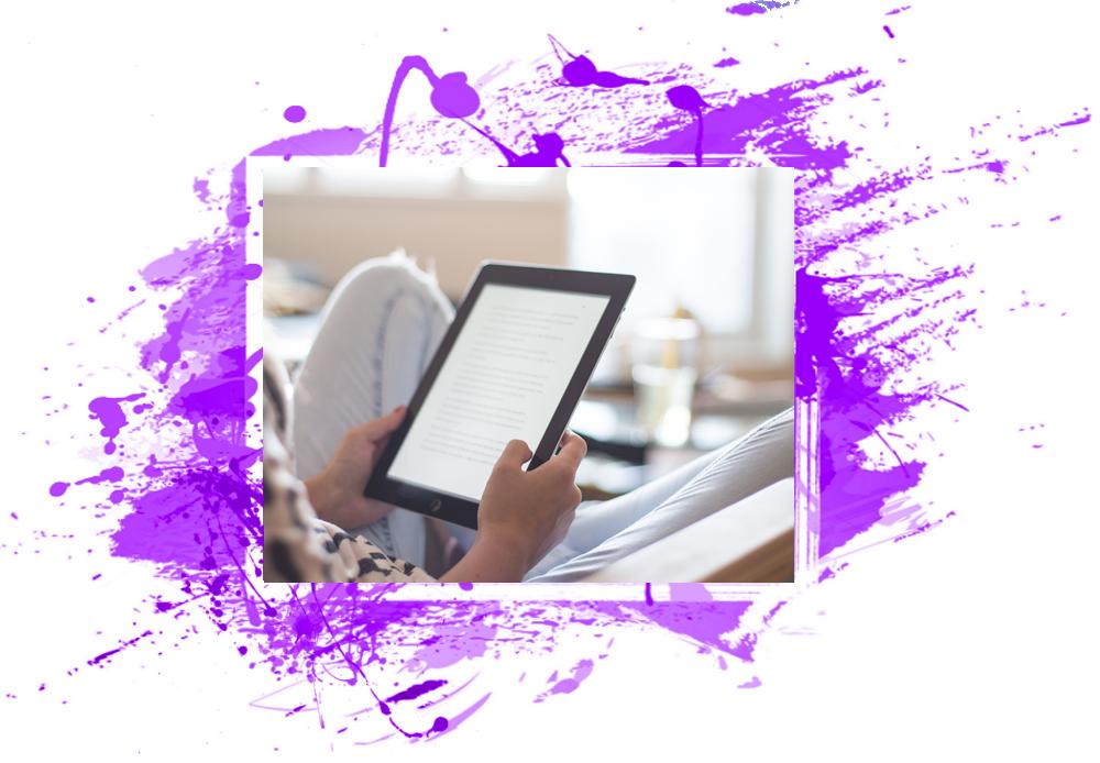 Lettore ebook - Vediamo una persona che legge un libro su un e-book reader